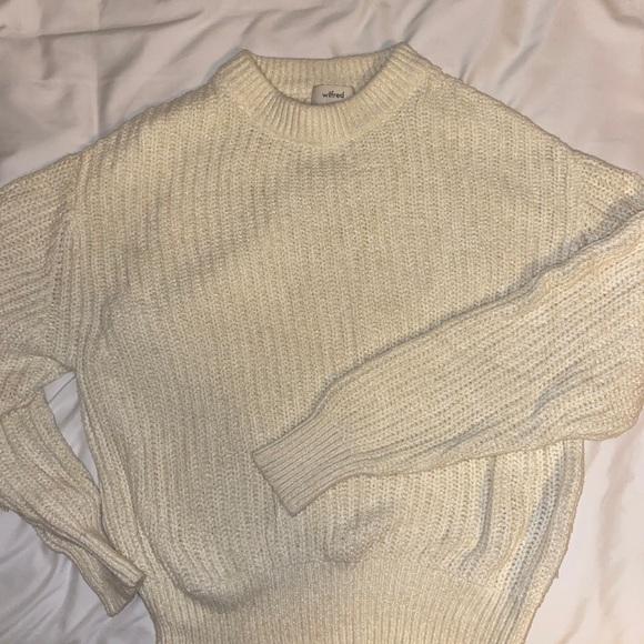 Knit cream sweater Aritzia
